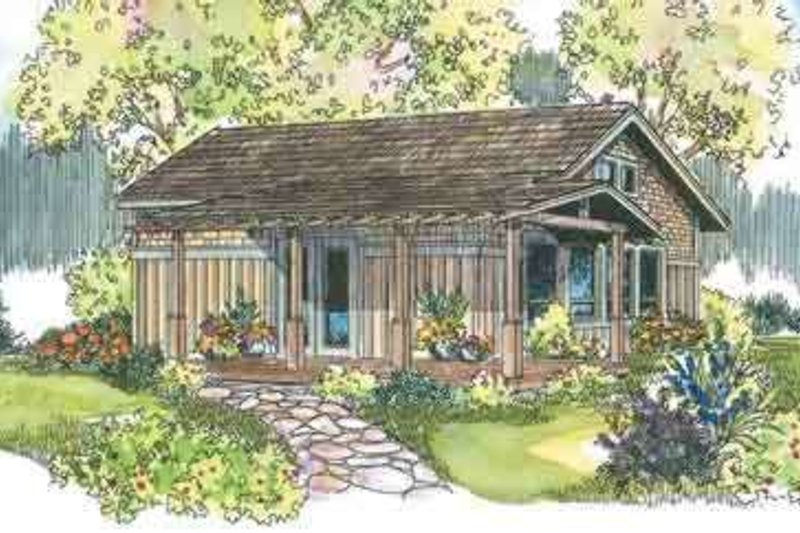 Craftsman Style House Plan - 1 Beds 1 Baths 960 Sq/Ft Plan #124-544 Exterior - Front Elevation