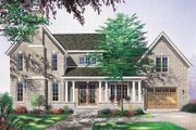 Traditional Style House Plan - 3 Beds 2.5 Baths 2032 Sq/Ft Plan #23-2156 Exterior - Front Elevation