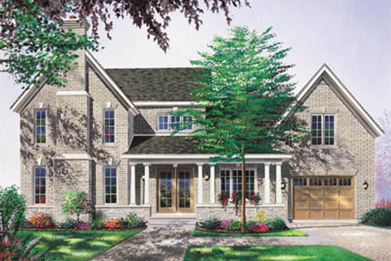 Home Plan - Traditional Exterior - Front Elevation Plan #23-2156