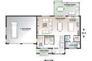 Craftsman Style House Plan - 4 Beds 2.5 Baths 2380 Sq/Ft Plan #23-2724 Floor Plan - Main Floor