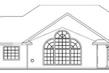 Dream House Plan - Ranch Exterior - Rear Elevation Plan #124-744