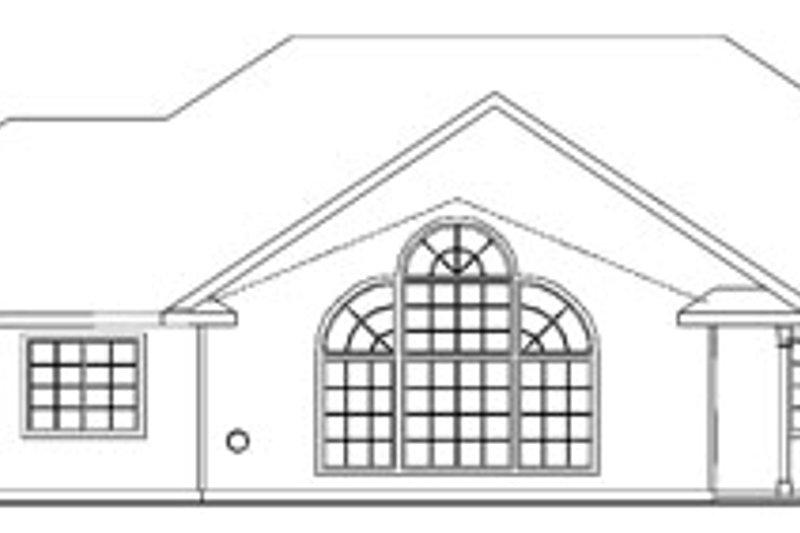 Ranch Exterior - Rear Elevation Plan #124-744 - Houseplans.com