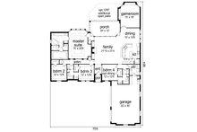 Tudor Floor Plan - Main Floor Plan Plan #84-609