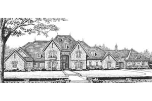 Large european house plan : front elevation