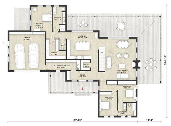 Dream House Plan - Modern Floor Plan - Main Floor Plan #924-6