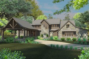 Country style home, elevation
