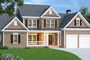 Traditional Exterior - Front Elevation Plan #419-134