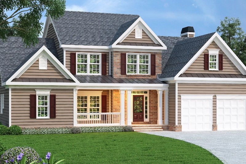 Dream House Plan - Traditional Exterior - Front Elevation Plan #419-134