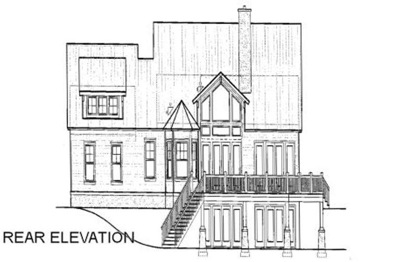 Craftsman Exterior - Rear Elevation Plan #417-276 - Houseplans.com
