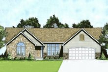 Ranch Exterior - Front Elevation Plan #58-181