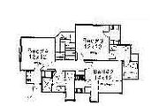 Colonial Style House Plan - 4 Beds 3.5 Baths 2728 Sq/Ft Plan #310-714 Floor Plan - Upper Floor