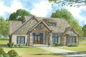 Home Plan - Craftsman Exterior - Front Elevation Plan #923-20