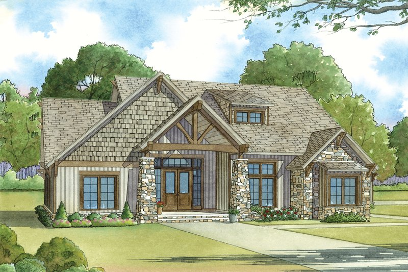 Craftsman Exterior - Front Elevation Plan #923-20