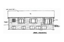 House Design - Traditional Exterior - Rear Elevation Plan #58-125