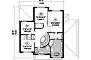 Contemporary Style House Plan - 4 Beds 2 Baths 3128 Sq/Ft Plan #25-4482 Floor Plan - Upper Floor Plan