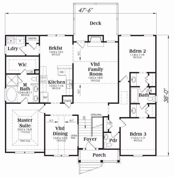 Traditional Floor Plan - Main Floor Plan Plan #419-113
