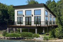 Dream House Plan - Modern Exterior - Front Elevation Plan #932-343