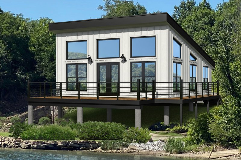 Modern Style House Plan - 1 Beds 1 Baths 750 Sq/Ft Plan #932-343