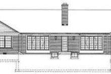 House Design - Ranch Exterior - Rear Elevation Plan #72-447