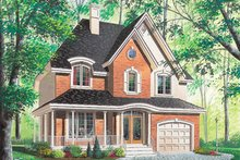 Cottage Exterior - Front Elevation Plan #23-295