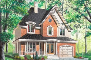 Cottage Exterior - Front Elevation Plan #23-295