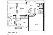 Mediterranean Style House Plan - 4 Beds 2.5 Baths 3117 Sq/Ft Plan #320-482 Floor Plan - Main Floor
