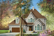 European Style House Plan - 5 Beds 2 Baths 3097 Sq/Ft Plan #25-4758 Exterior - Front Elevation