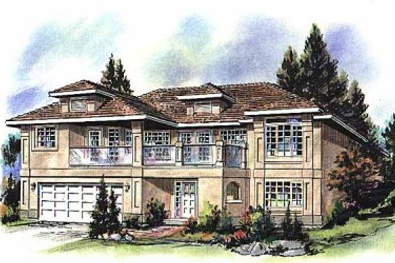 European Style House Plan - 3 Beds 2 Baths 1746 Sq/Ft Plan #18-153 Exterior - Front Elevation