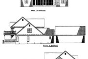 Farmhouse Style House Plan - 4 Beds 3.5 Baths 3820 Sq/Ft Plan #17-528 Exterior - Rear Elevation