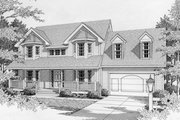 Traditional Style House Plan - 3 Beds 2.5 Baths 1881 Sq/Ft Plan #112-122 Exterior - Front Elevation