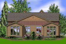Home Plan - Craftsman Exterior - Rear Elevation Plan #48-368