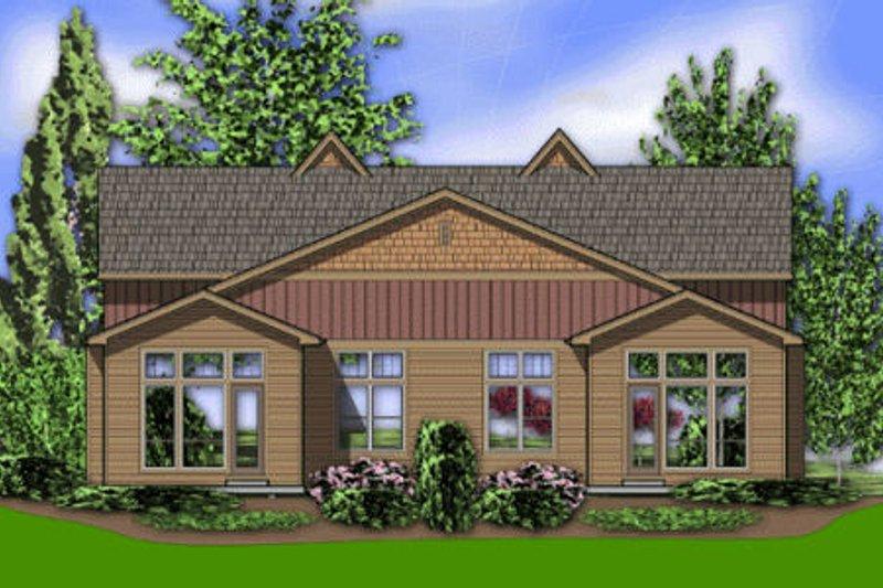 Craftsman Exterior - Rear Elevation Plan #48-368 - Houseplans.com