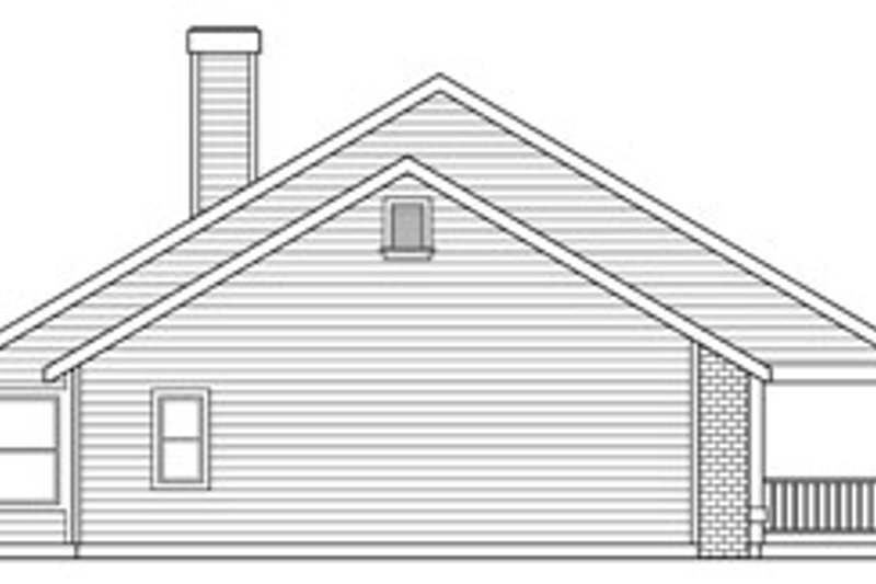 Ranch Exterior - Other Elevation Plan #124-273 - Houseplans.com