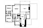 European Style House Plan - 4 Beds 3.5 Baths 3597 Sq/Ft Plan #449-4 Floor Plan - Upper Floor