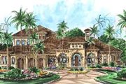 European Style House Plan - 4 Beds 5.5 Baths 4682 Sq/Ft Plan #27-298 Exterior - Front Elevation