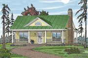 Cottage Style House Plan - 1 Beds 1 Baths 792 Sq/Ft Plan #456-30 Exterior - Front Elevation