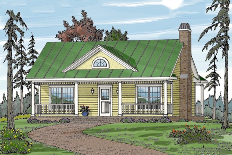 Cottage Style House Plan - 1 Beds 1 Baths 792 Sq/Ft Plan #456-30