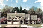 Traditional Style House Plan - 4 Beds 3 Baths 2845 Sq/Ft Plan #119-131 Exterior - Front Elevation