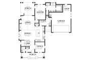 Cottage Style House Plan - 3 Beds 2.5 Baths 2256 Sq/Ft Plan #48-704 Floor Plan - Main Floor Plan