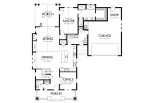 Cottage Floor Plan - Main Floor Plan Plan #48-704