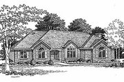 Traditional Style House Plan - 3 Beds 2 Baths 1984 Sq/Ft Plan #70-261 Exterior - Front Elevation