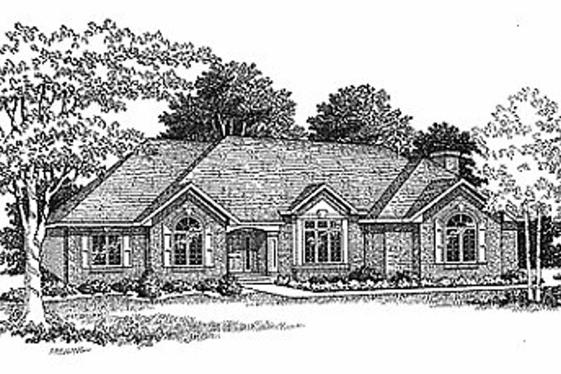 Traditional Exterior - Front Elevation Plan #70-261