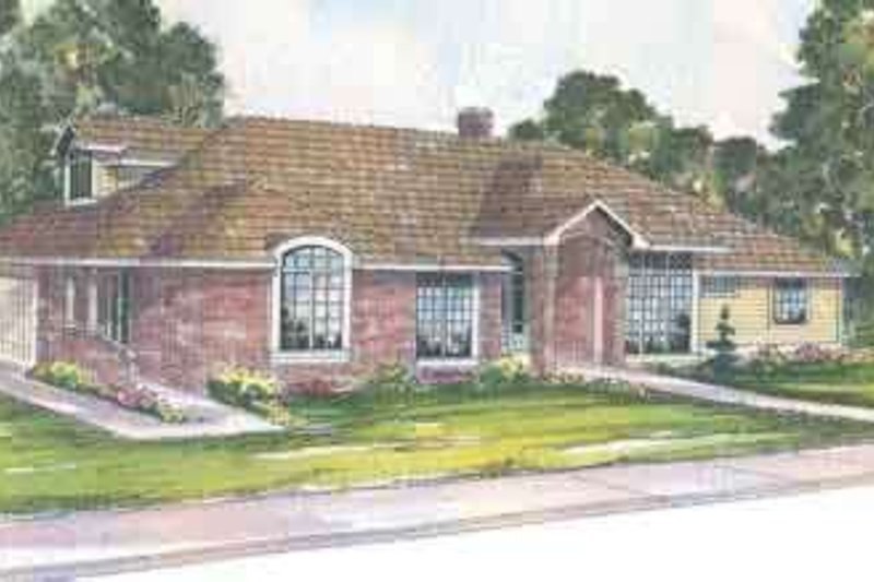 Exterior - Front Elevation Plan #124-402