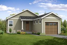 Traditional Exterior - Front Elevation Plan #124-1046