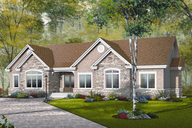 Traditional Exterior - Front Elevation Plan #23-787