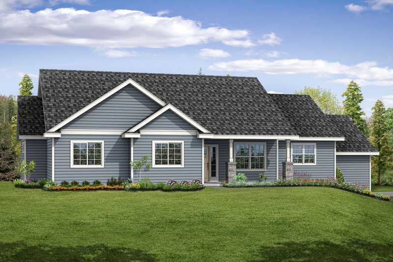 Dream House Plan - Country Exterior - Front Elevation Plan #124-1059