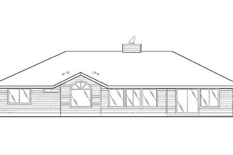 Ranch Exterior - Rear Elevation Plan #60-259 - Houseplans.com