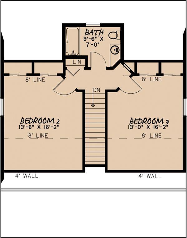 Cabin Floor Plan - Upper Floor Plan Plan #923-9