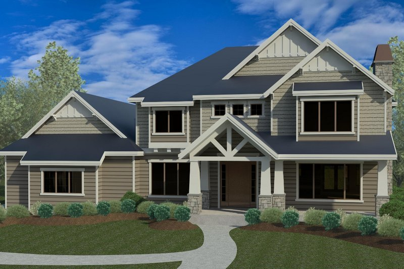 Craftsman Exterior - Front Elevation Plan #920-74