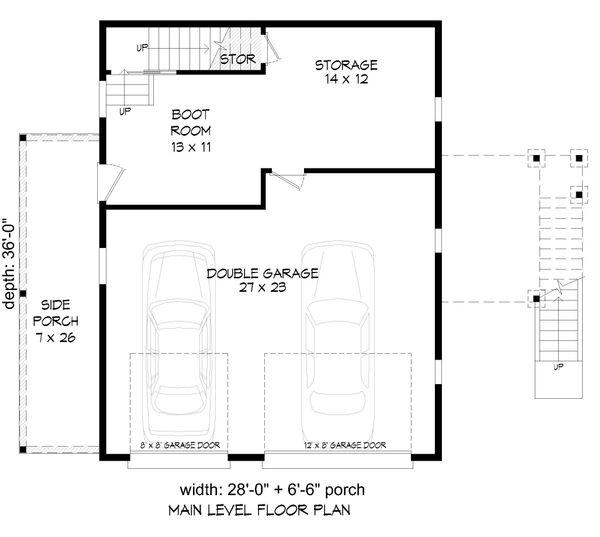 Country Floor Plan - Main Floor Plan #932-91